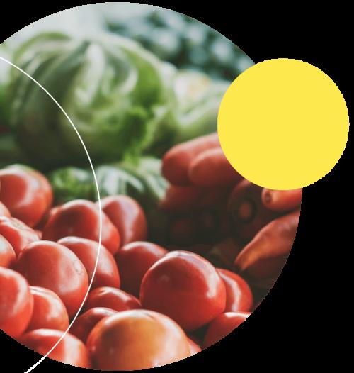 tomato with yellow circle